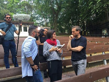 Dreharbeiten für das ZDF-Morgenmagazin
